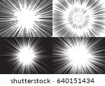 four templates for comic... | Shutterstock .eps vector #640151434