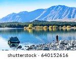 autumn in lake tekapo  nz | Shutterstock . vector #640152616