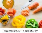 fresh vegetables | Shutterstock . vector #640155049
