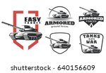 vintage military emblems ... | Shutterstock .eps vector #640156609
