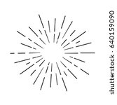 sun rays hand drawn  linear... | Shutterstock .eps vector #640159090