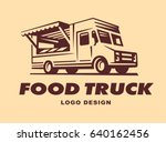 different logos of food truck ... | Shutterstock . vector #640162456