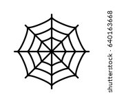 spider web vector eps icon | Shutterstock .eps vector #640163668