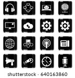 communication vector icons for... | Shutterstock .eps vector #640163860