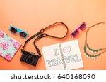 summer traveling concept.... | Shutterstock . vector #640168090