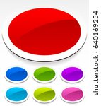 oval badge   button background... | Shutterstock .eps vector #640169254