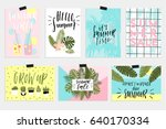 summer greeting cards and... | Shutterstock .eps vector #640170334
