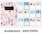 calendar 2018. stock vector.... | Shutterstock .eps vector #640170454