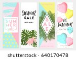 summer sale banners wallpaper ... | Shutterstock .eps vector #640170478