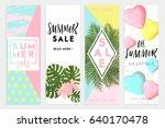 summer sale banners wallpaper ... | Shutterstock .eps vector #640170478