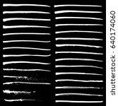 set of white ink strokes on... | Shutterstock .eps vector #640174060