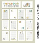 collection of cute blocks for... | Shutterstock .eps vector #640175038
