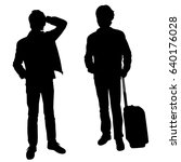 vector silhouette of two... | Shutterstock .eps vector #640176028