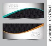 banner polygonal geometric... | Shutterstock .eps vector #640178164
