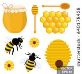 the bee. tasty and healthy... | Shutterstock .eps vector #640178428