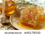 close up honeycomb with honey... | Shutterstock . vector #640178530