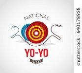 national yo yo day vector design   Shutterstock .eps vector #640178938