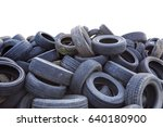 Stack Of Old Rubber Car Tire...