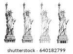 Statue Of Liberty  Vector Set....
