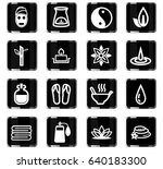 beauty and spa vector icons for ... | Shutterstock .eps vector #640183300