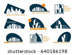 real estate logo set .creative... | Shutterstock .eps vector #640186198