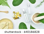cosmetic bottle containers with ... | Shutterstock . vector #640186828