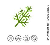 dill flat icon | Shutterstock .eps vector #640188073