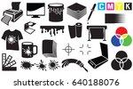 printing icons set   palette ... | Shutterstock .eps vector #640188076