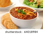 A Bowl Of Hot Chili With Whole...
