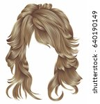 trendy woman long hairs brown   ... | Shutterstock .eps vector #640190149