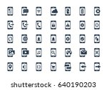 smartphone functions and apps... | Shutterstock .eps vector #640190203