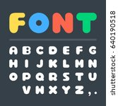 vector font. creative big thick ... | Shutterstock .eps vector #640190518