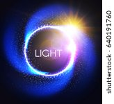 shining circle banner with... | Shutterstock .eps vector #640191760