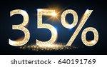 35  sale. thirty five percent... | Shutterstock .eps vector #640191769