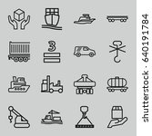 cargo icons set. set of 16... | Shutterstock .eps vector #640191784