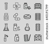 pharmaceutical icons set. set... | Shutterstock .eps vector #640191799