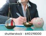 savings or real estate...   Shutterstock . vector #640198000