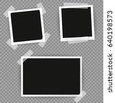 polaroid photo frame. white... | Shutterstock .eps vector #640198573