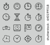 second icons set. set of 16... | Shutterstock .eps vector #640199518