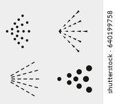 spray icons set. simple black... | Shutterstock .eps vector #640199758