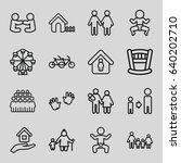 family icons set. set of 16... | Shutterstock .eps vector #640202710