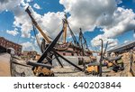 view of hms victory docked in... | Shutterstock . vector #640203844