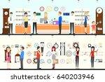 watch store interior set. | Shutterstock .eps vector #640203946