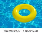 colorful inflatable tube... | Shutterstock . vector #640204960