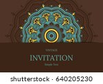 cards or invitations with... | Shutterstock .eps vector #640205230