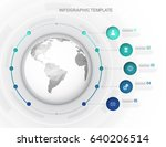 infographic template with five... | Shutterstock .eps vector #640206514
