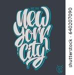new york city  lettering design ... | Shutterstock .eps vector #640207090