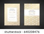 vintage wedding invitation... | Shutterstock .eps vector #640208476
