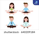 meditation. people character.... | Shutterstock .eps vector #640209184