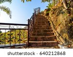 recreational park stairs | Shutterstock . vector #640212868
